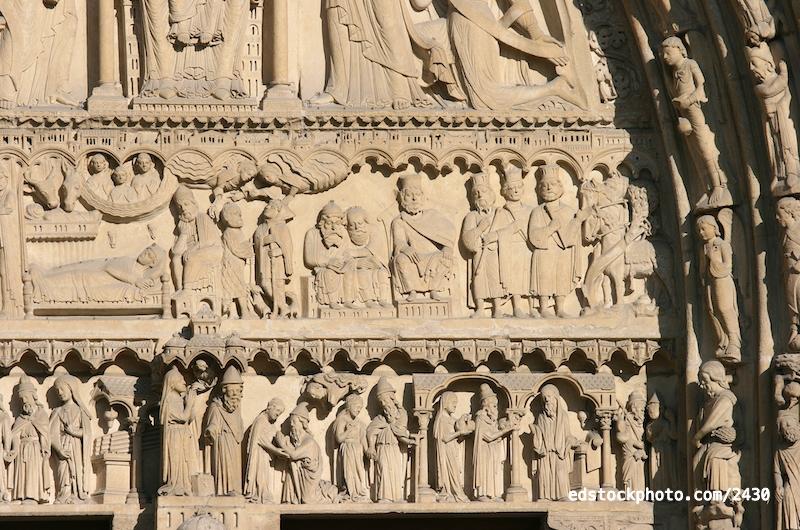 Portal of St. Anne: Lintels
