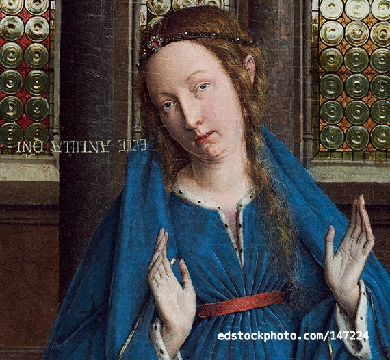 The Virgin Mary by van Eyck