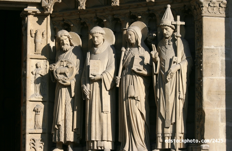 Portal of the Virgin (c.1220): Saints and Zodiacs