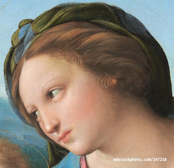 Alba Madonna (detail)