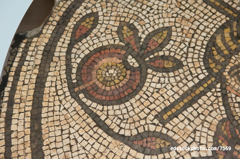 Hinton St Mary Mosaic: Pomegranate